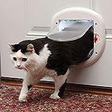 PetSafe Big Cat 4-Way Locking Cat Door, Exterior/Interior, White