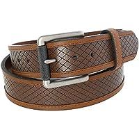 Danbury Men's Embossed Leather Belt with Roller Buckle