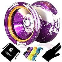 effasion m002 4月Unresponsive yo-yoパープルスプラッシュシルバー+ 5 Yoyo Strings +