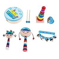 Blesiya 全7種類 キッズミニバンド楽器 キッズおもちゃ バンドキット 子供玩具 - ボーイ6個-1