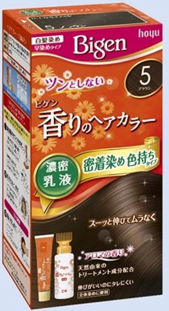 ホーン汚物チキンビゲン 香りのヘアカラー 乳液 5 ブラウン × 27個セット