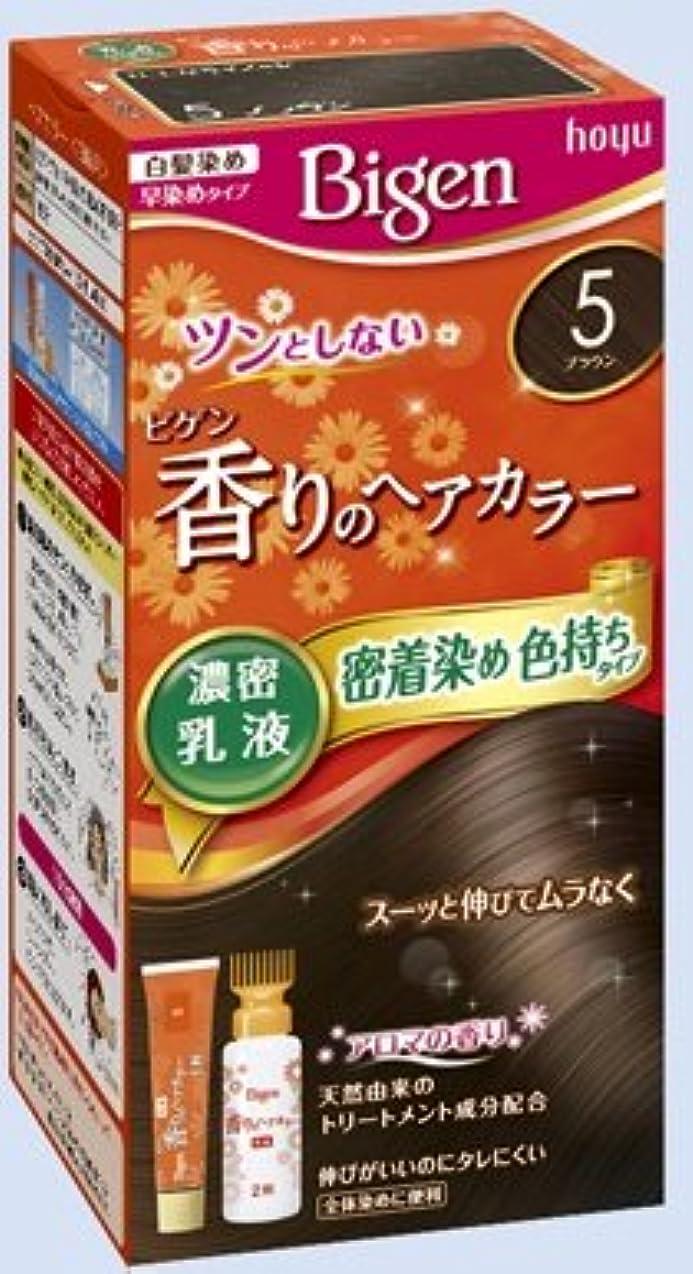 感じ不一致配当ビゲン 香りのヘアカラー 乳液 5 ブラウン × 27個セット