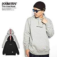 (ダブルスティール)DOUBLE STEAL Thin Line Hood パーカー 995-67011 BLACK-RED L