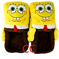 スポンジボブ スリッパsponge bob slippers Figure cartoon plush slipper 11inch SPONGEBOB Squarepants [並行輸入品]