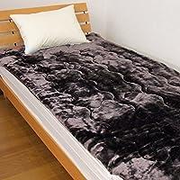 敷きパッド あったかボリュームタイプ ダブルサイズ 140x205cm 暖か パッドシーツ 敷パット 217DK21D (ブラウン)