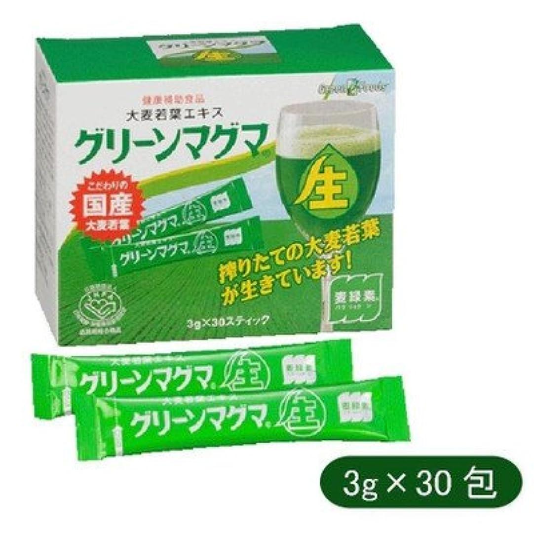 詳細にコイル成長する日本薬品開発 大麦若葉エキス グリーンマグマ 3g×30包 642670