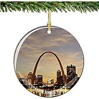 Saint Louisクリスマスオーナメント、磁器2.75