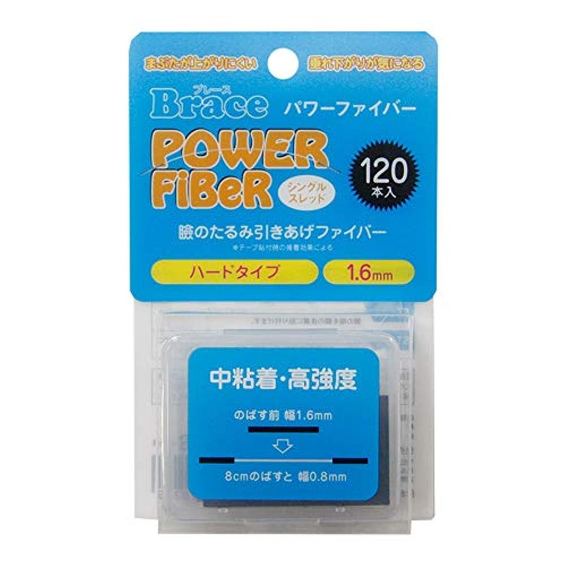息切れ勃起深くBrace パワーファイバー 眼瞼下垂防止テープ ハードタイプ シングルスレッド 透明1.6mm幅 120本入り