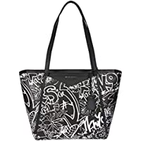 Michael By Michael Kors Women's 30T8SN1T3T001 Black Leather Tote