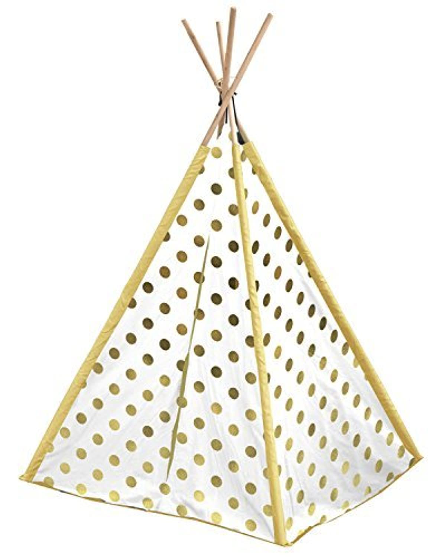 Heritage Kids NK639571 Polka Dot Play Tent Gold [並行輸入品]
