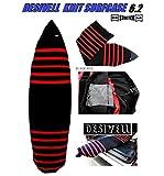 サーフボードニットケース  SHORTBOARD&RETRO CASE 6.2(BLACK-RED) ハイブリッド/ショートボード/ミニボード用/WAXポケット付