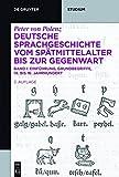 Einführung · Grundbegriffe · 14. bis 16. Jahrhundert: Band I (De Gruyter Studium)