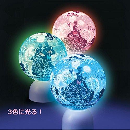60ピース 光る球体パズル パズランタン シルエット シンデレラ ブリリアント・ナイト