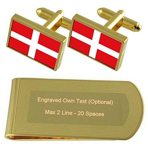 マルタの旗金ソブリン軍事の順序 - トーン カフスボタン お金クリップを刻まれたギフトセット