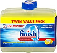 Finish Dishwasher Cleaner, Lemon Sparkle, Twin Pack 2x250ml, 2 Pack