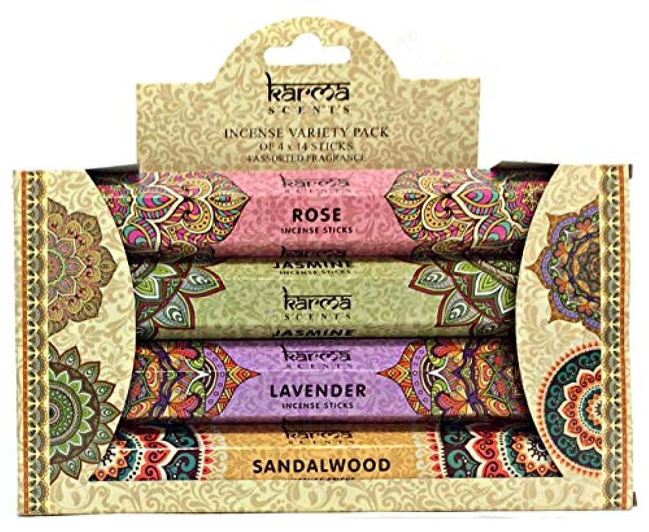 カセット永遠に紛争Karma Scents Incense Variety Pack – 4 Assorted Fragrances