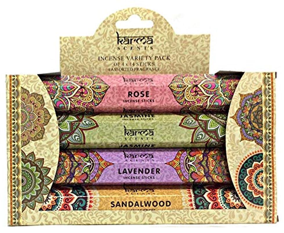 触手悪質な怪しいKarma Scents Incense Variety Pack – 4 Assorted Fragrances