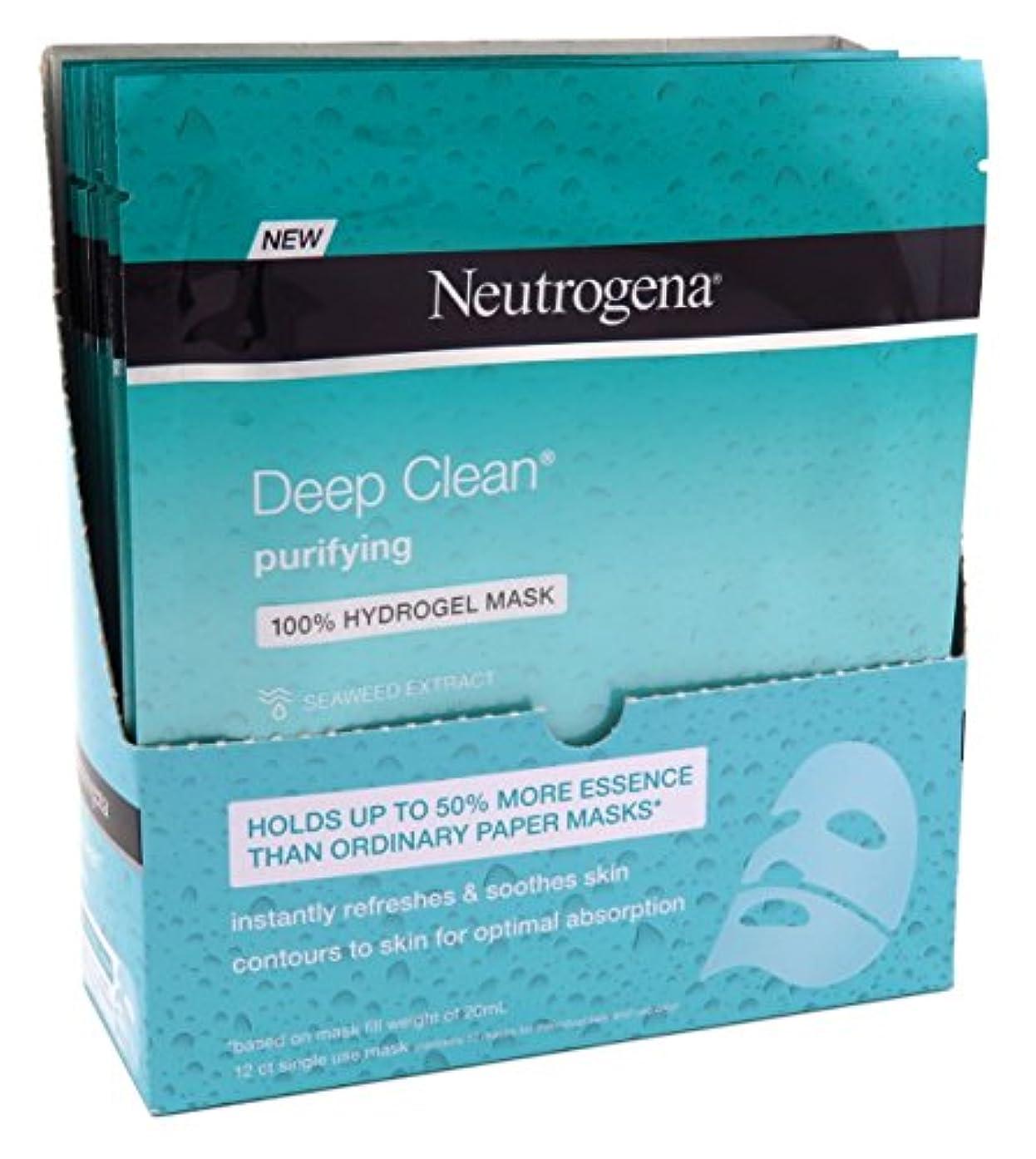 ロゴヒロイック副Neutrogena ディープクリーンPurifyのヒドロゲルは、1オンス(12個)(30ML)をマスク