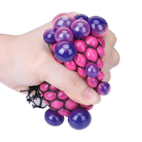(ヘイトライ)heytr 子供 大人 面白い おもちゃ グレープボール ストレス解消グッズ 握ってストレス発散! 自閉症 不安 緊張解消 手持ち無沙汰解消アイテム ポケットゲーム 一個 色ランダムに!