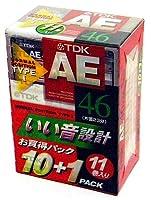 TDK オーディオカセットテープ AE 46分 11巻パック  [AE-46X11F]