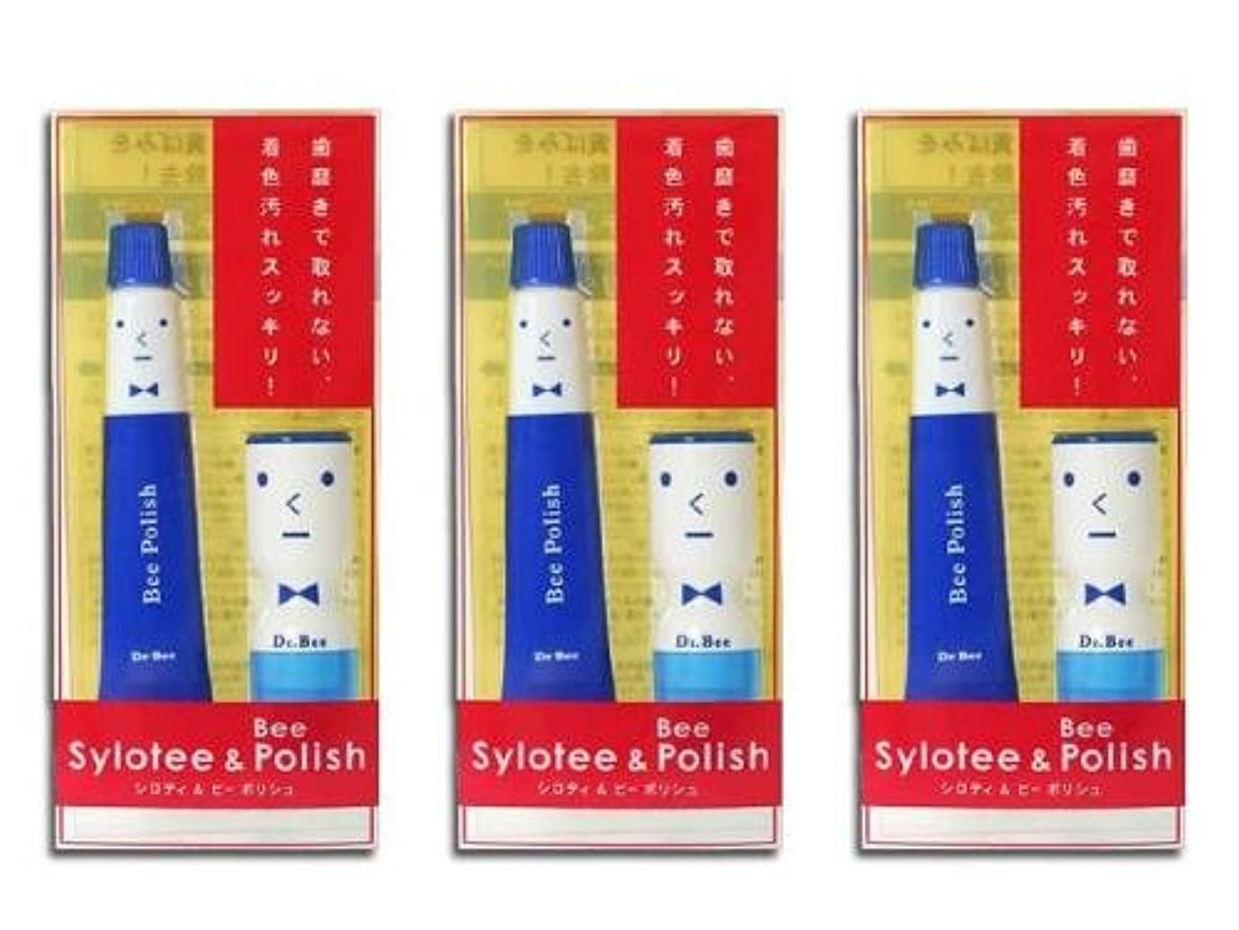 回路スタック家具歯の着色、黄ばみをすっきり除去 Dr.BEE 歯の消しゴム シロティ&ビーポリッシュセット 3個セット