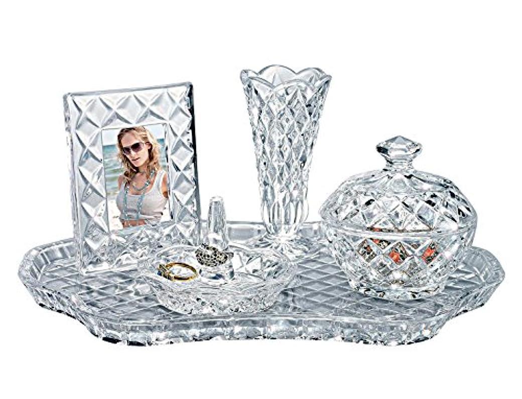 報酬のスカープ大胆Godinger 53494 Shannon 5 - pc. Crystal Vanity Set