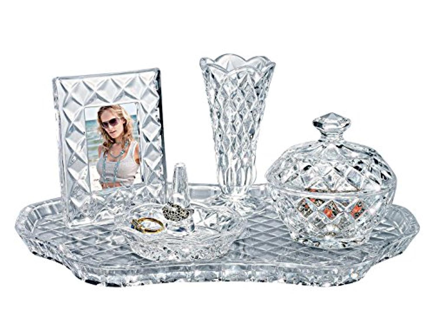 スポンジ鏡覚醒Godinger 53494 Shannon 5 - pc. Crystal Vanity Set