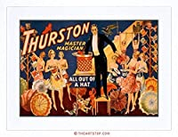 Theatre Thurston Illusion Magic USA Advert Framed Wall Art Print アメリカ合衆国