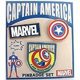 MARVEL POP ICON/ピンバッジセット/キャプテン?アメリカ