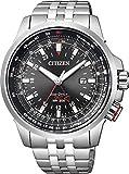 [シチズン]CITIZEN 腕時計 PROMASTER プロマスター GLOBAL SKY Eco-Drive エコ・ドライブ ワールドタイム パイロットウォッチ 多機能モデル BJ7071-54E メンズ