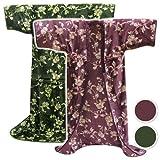 メーカー直販 毛布かいまき 肩冷え寝冷えを防止 インフルエンザ対策 140×200cmのロングサイズグリーン