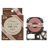キングジム テプラPROテープりぼん ピンク/黒 SFR12PK