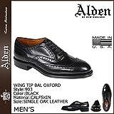 (オールデン) ALDEN ウイングチップ バル オックスフォード シューズ WING TIP BAL OXFORD Dワイズ MADE IN USA レザー メンズ 903 ブラック US8.5-26.5 (並行輸入品)