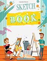 """Sketch Book: Large Notebook for Drawing, Doodling or Sketching: 100 Pages, 8.5"""" x 11"""", Blank Sketchbook, Sketchbook for Drawing"""