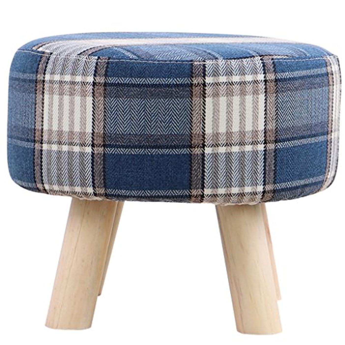 例示する個人的なとげのあるチェア?テーブルアクセサリ 布製のスツール靴のベンチを着用ソリッドウッドの靴のベンチソファのスツールコーヒーテーブルの台所家庭用スツール洗える (Color : Blue, Size : 40 * 16 * 33cm/16 * 6 * 13 inch)