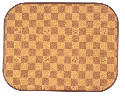 ペットの防滑消臭マット 50×65 ブラウン