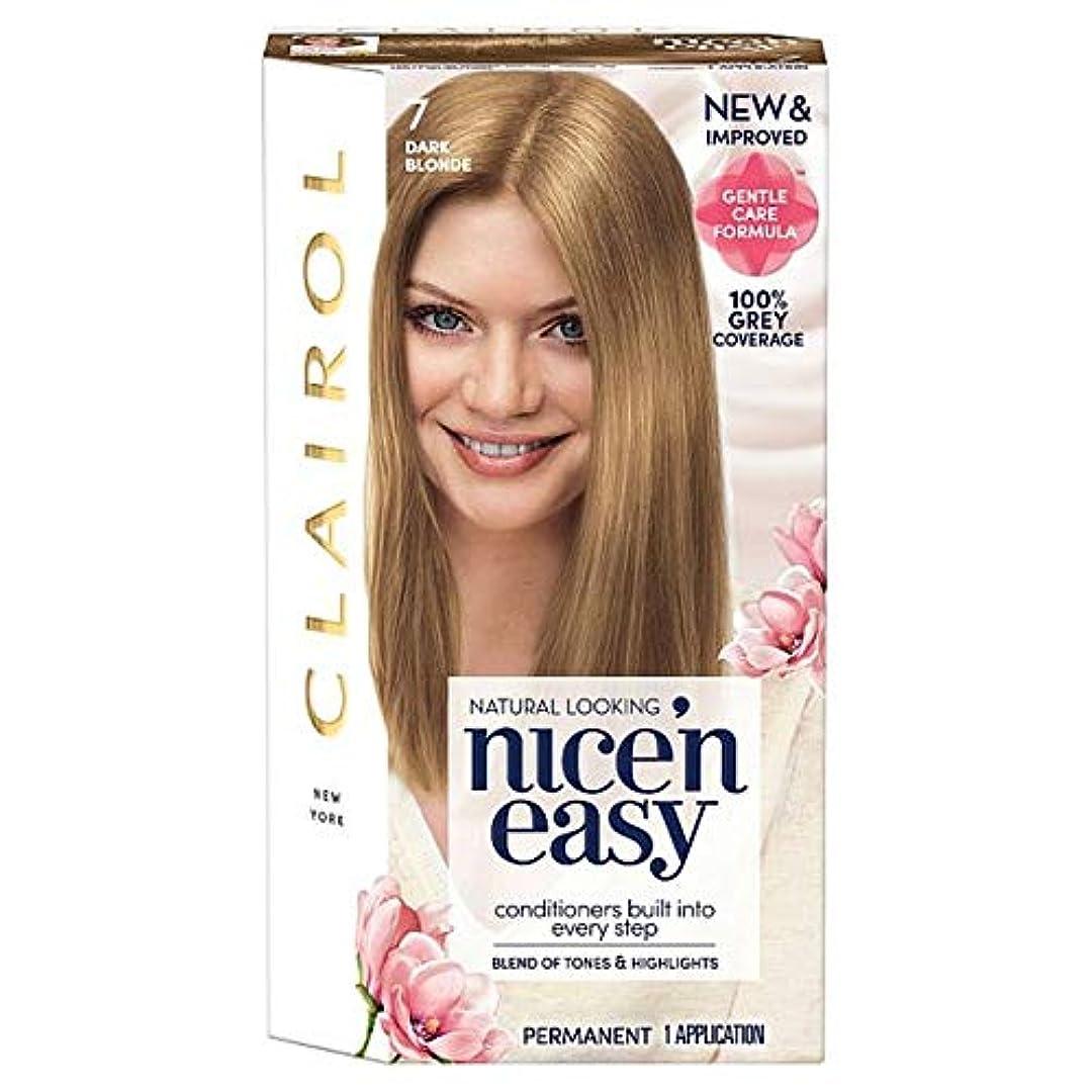 結果汚物脅迫[Nice'n Easy] クレイロール素敵な「N簡単ダークブロンド7ヘアダイ - Clairol Nice 'N Easy Dark Blonde 7 Hair Dye [並行輸入品]