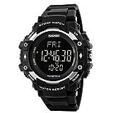 YIJIA フィットネス3D歩数計 カロリー カウンター 心拍数 モニター腕時計 男性女性 スポーツ デジタル時計