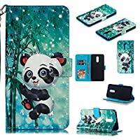 Abtory LG Stylo 5 Wallet Case, [Cartoon Printed] Wallet Case [ID Credit Card and Cash Slots] with Stand Flip Cover Phone Case for LG Stylo 5 Panada