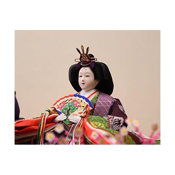 雛人形 ケース入り親王飾り 春日雛 加賀蒔絵バ...の紹介画像8