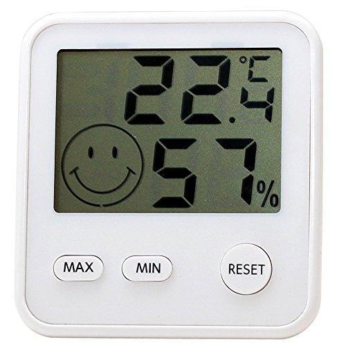 エンペックス気象計 温度湿度計 デジタルmidi 置き掛け兼用 シルキーホワイト TD-8311