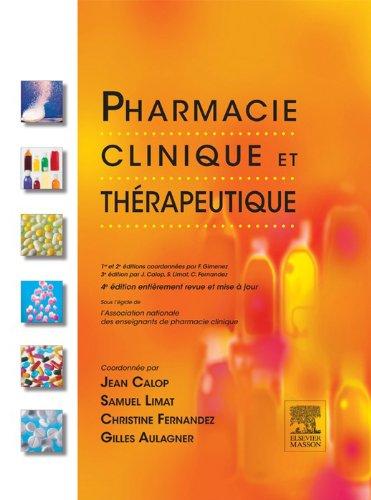 The description of Pharmacie Clinique et Thérapeutique