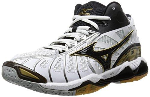 [ミズノ] バレーボールシューズ ウエーブ トルネード X MID (旧モデル) V1GA1617 08ホワイト×ブラック×ゴールド 23.5