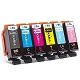 【LxTek】Epson用 エプソン KAM-6CL-L インクカートリッジ 6色セット カメ インク 『互換インク 大容量 説明書付 残量表示 個包装 一年保証』対応機種:Epson EP-882AW EP-882AB EP-882AR EP-881AW EP-881AB EP-881AR EP-881AN