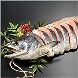 サーモン専門店岩松 北海道産 新巻鮭寒風干し姿切り【約2キロ】化粧箱入