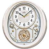 SEIKO CLOCK(セイコークロック) 電波からくり掛け時計 ウエーブシンフォニー 6曲メロディ ピンク AM251P