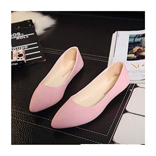 特価~ポインテッドトゥ パンプス 痛くない 黒 靴 スエード グレー 歩きやすい レディース ポインテッド バレエシューズ ローヒール パンプス オフィス 通勤 靴 レディース 22.5-24.5cm 走れるパンプス シューズ 靴 くつ 美脚