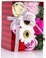 ソープフラワー 創意方形ギフトボックス 誕生日 記念日 母の日 先生の日 バレンタインデー 昇進 転居など最適としてのプレゼント