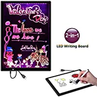 Henscoqi LED蛍光灯画面と磁気図面スケッチボードキッズ用、ベストクリスマスギフトおもちゃ(図面ボード)