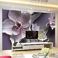 Ansyny 3Dステレオレリーフの花の壁画の壁紙リビングルームのテレビのソファの背景壁装材古典的な花の家の装飾-420X280cm